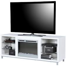 fireplace tv stand white 65 inch media console led light remote insert modern for