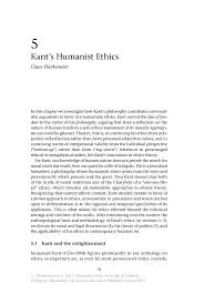 kant s humanist ethics springer inside