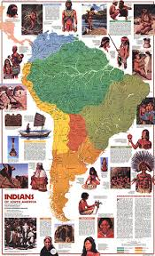 Indians Of South America Map