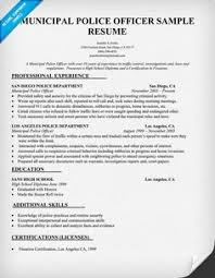 an introduction to police report writing mov   career    municipal  police officer resume sample  resumecompanion com
