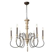 rustic french country beaded chandelier small plain