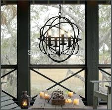 beautiful rustic orb chandelier for rh lighting vintage pendant lamp foucaults iron orb chandelier