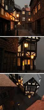 Miniature Village Street Lights 1 25 Victorian Street Miniature Model Victorian Street