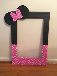 minnie mouse 1st birthday invitations free templates awesome my diy photo booth prop frame for averys