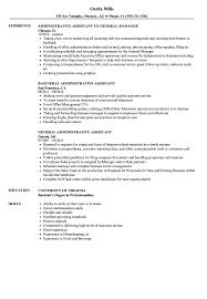 General Assistant Resume Samples Velvet Jobs