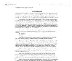 hunting essay gcse english marked by teachers com document image preview