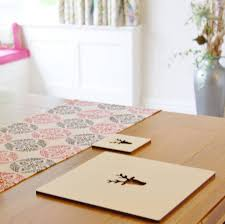 set of four or six wooden stag placemats