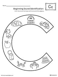 These free phonics worksheets explore the different ways that letters may sound. Letter C Beginning Sound Color Pictures Worksheet Myteachingstation Com