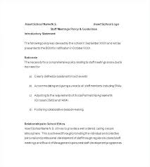 Mandatory Staff Meeting Template Sample Employee Memo Free Notice