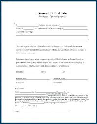 General Bill Of Sale Form Free General Bill Of Sale Word Template 474