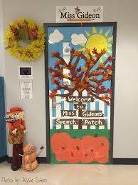room door decorations. Fall Themed Speech Room Door Decorations E