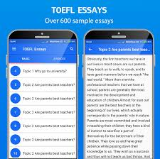 toefl practice toefl test essays preparation android apps  toefl practice toefl test essays preparation screenshot