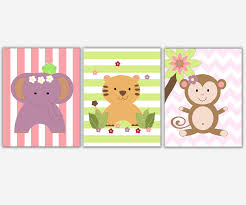 baby girls nursery wall art purple pink elephant lion monkey jungle safari zoo animals canvas prints baby nursery decor on baby safari nursery wall art with baby girls nursery wall art purple pink elephant lion monkey jungle