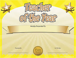 Best Teacher Award Template Funny Award Ideas Free Teacher Of The Year Award Certificate Template