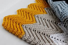 Chevron Crochet Blanket Pattern Beauteous Chevron Crochet Blanket Pattern Chevron Crochet Baby Blanket Sizes