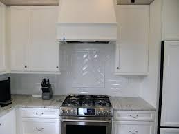 faux glass tile backsplash interior artistic with white kitchen cabinets  interior artistic with white kitchen cabinets