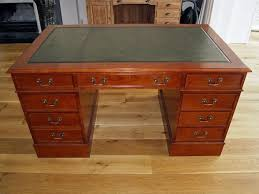 classic english leather top desk in 4 sizes mahogany oak cherry intended for modern home leather top desk prepare
