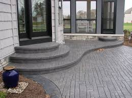stamped concrete patio with stairs. Wonderful Patio Nice Backyard Concrete Patio With Steps Intended Stamped Stairs H