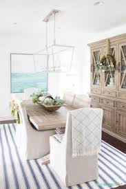 a gorgeous coastal fall dining room decorated in non traditional autumn colors post also