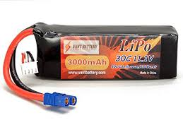 <b>11.1V 3000mAh 3S</b> Cell 30C-60C LiPo Batte- Buy Online in ...