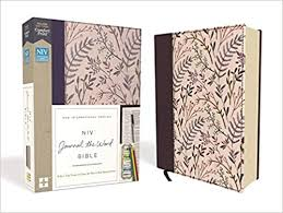 NIV, Journal the Word Bible, Cloth over Board, <b>Pink Floral</b>, Red ...