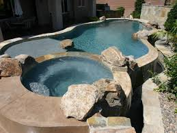 fantastic round hot tubs in natural stone edges also unusual pool in clear water also
