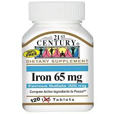 21st century iron 65mg tablets 100 s