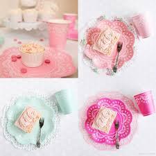 Pink Flower Paper Plates Lace Pastel Flower Paper Plates Pink Blue Purple Paper Plate Cups