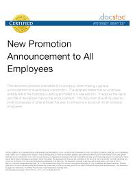Promotion Announcement Email Template Internal Promotion ...
