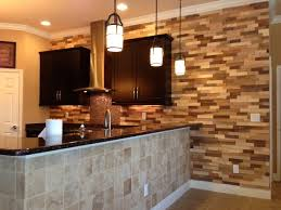 kitchen remodel wood accent wall contemporary kitchen