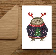Unique Christmas Cards Grumpy Owl Christmas Cards By Nic Allan Notonthehighstreetcom