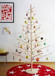 27 MINIMALIST CHRISTMAS TREE DECORATIONS  Modern Christmas Wooden Branch Christmas Tree