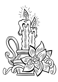 Christmas Candle Coloring Pages For Kids