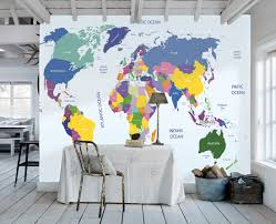 World Map Wallpaper Mural Group (0+)