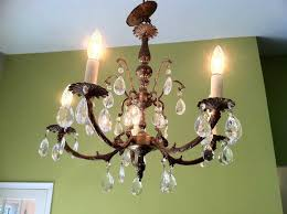 retro brass chandelier best of vintage crystal and brass chandelier made in spain