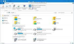 Windows 10 Explorer Add Or Remove This Pc In Navigation Pane In Windows 10 Tutorials