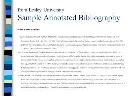 what is an annotated bibliography ppt video online  from lesley university sample annotated bibliography