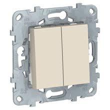 Купить <b>Выключатель</b> 2-кл, сх. 5, 10 AX, 250 В, Бежевый / UNICA ...