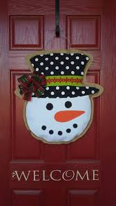 winter burlap snowman perfect addition to your front door all holiday season and beyond