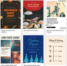 Event Programs Free Or Affordable Event Program Templates For Events On A