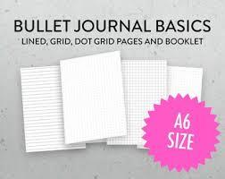 B6 Size Rainbow Grid Dot Grid Lined Printable Tn Insert