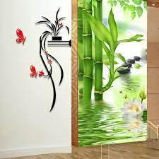 3d Flower Mirror Wall Sticker Acrylic ...