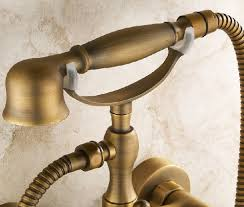 sprayer for bathtub faucet. rozin-antique-brass-phone-shape-bathtub-faucet-mixer- sprayer for bathtub faucet t
