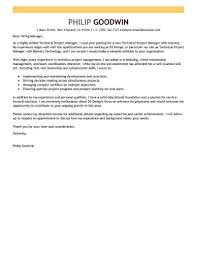 Cover Letter Project Manager Best Technical Project Manager Cover