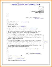 7 Example Of Full Block Style Business Letter Buyer Resume Cover
