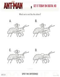 Small Picture Printable Marvel Ant Man Spot the Difference Coloring Page Mama