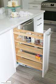 a vertical pull out compartment