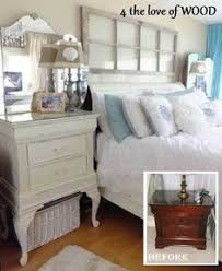 distressed white wood furniture. put queen anne legs on a little nightstand to raise it up distressed white wood furniture