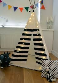 ... Marvelous Pictures Of Kid Teepee Design For Kid Play Room Decoration :  Interesting Black Horizontal Striped ...