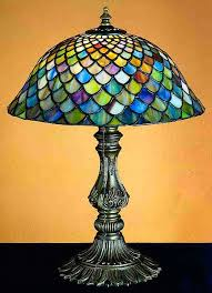 elegant stained glass lamps regarding fishscale 17 table lamp bases and ideas 2